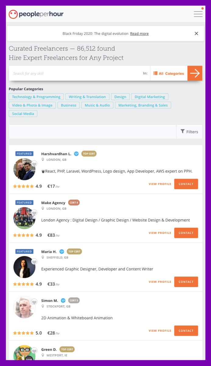 Blog starten? Bouw je website met behulp van Peopleperhour.