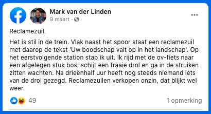 Literatuur ik leuk! Stukje geschreven door Mark van der Linden