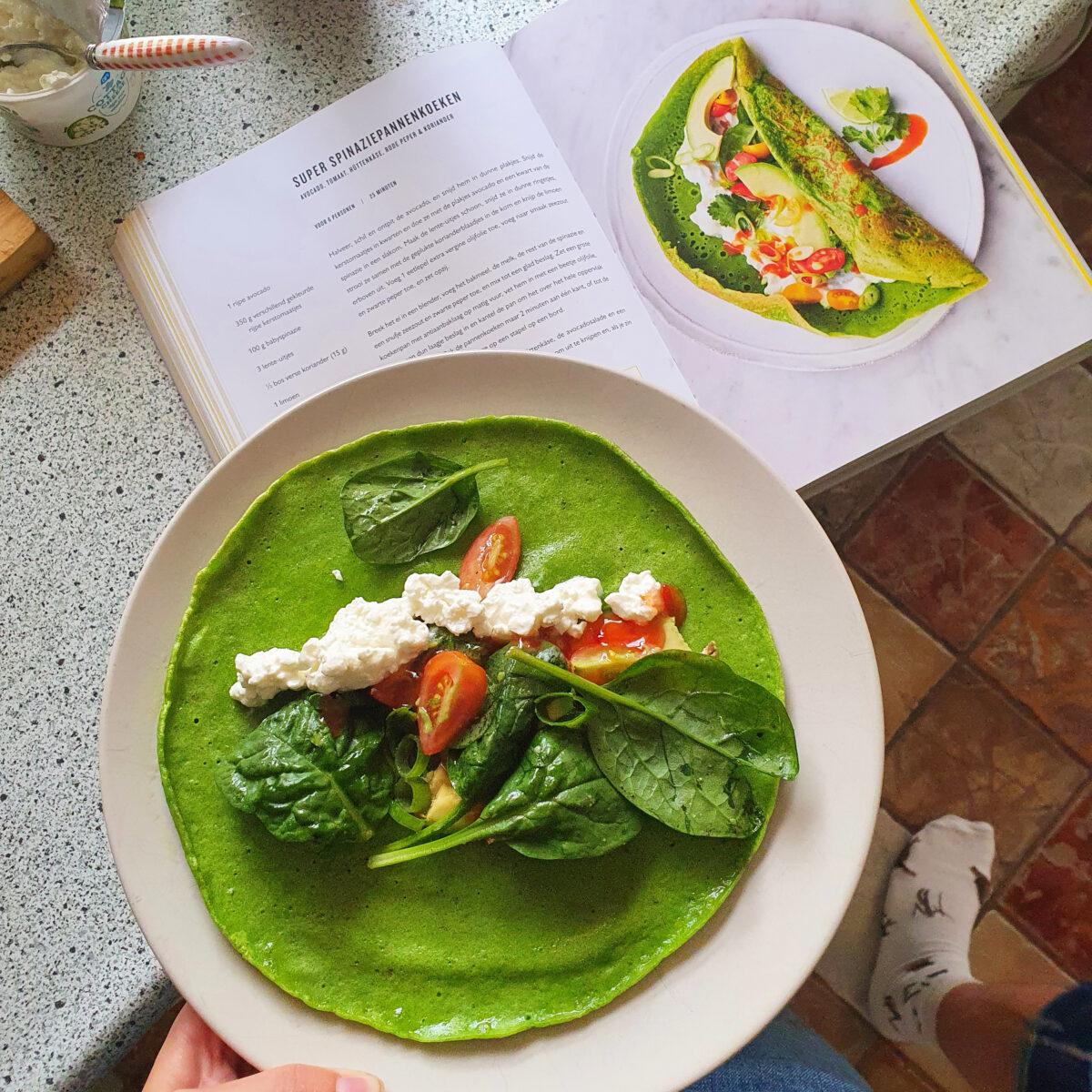 Vegetarische inspiratie spinazie pannenkoeken