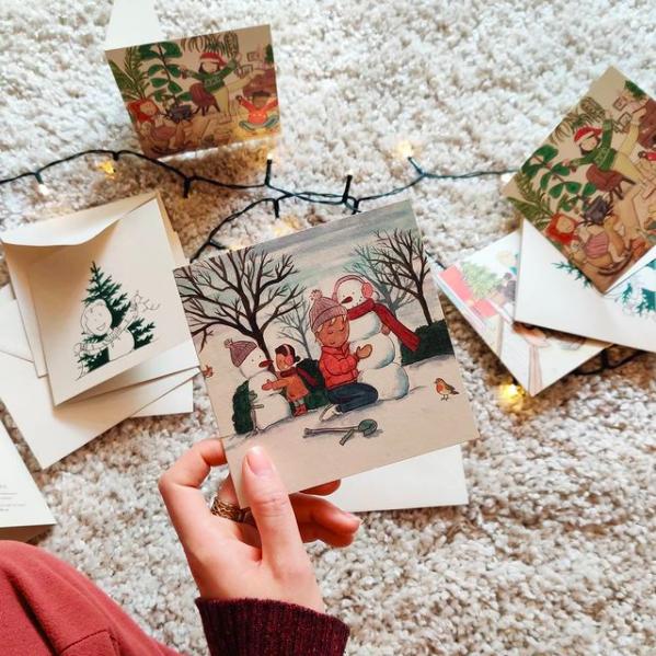 Illustrator Carmen Groenefelt kerstkaarten