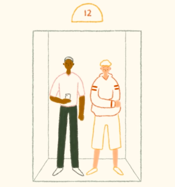 Loslaten wat anderen van je vinden in de lift